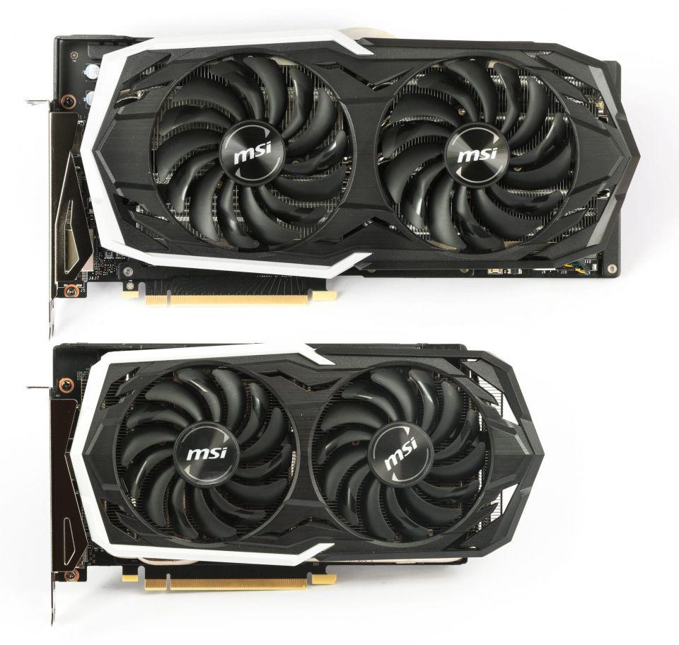 MSI GeForce RTX 2070 Armor (nahoře) vs. GeForce RTX 2060 Super Armor 4K