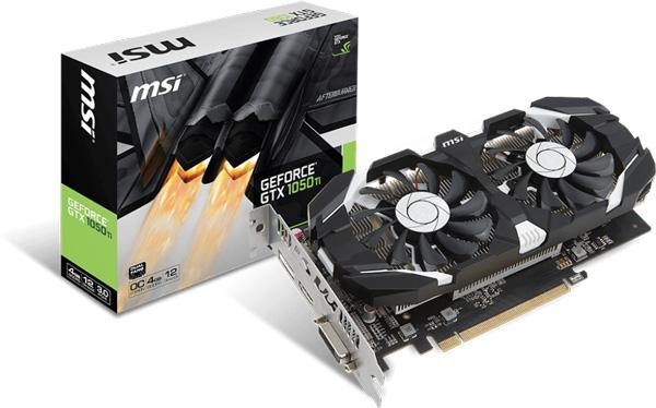 Grafická karta nVidia GTX 1050 Ti – MSI GeForce GTX 1050 Ti 4GT OC