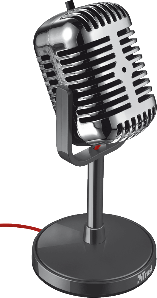 Trust ELVII: Stolní mikrofon v retro stylu