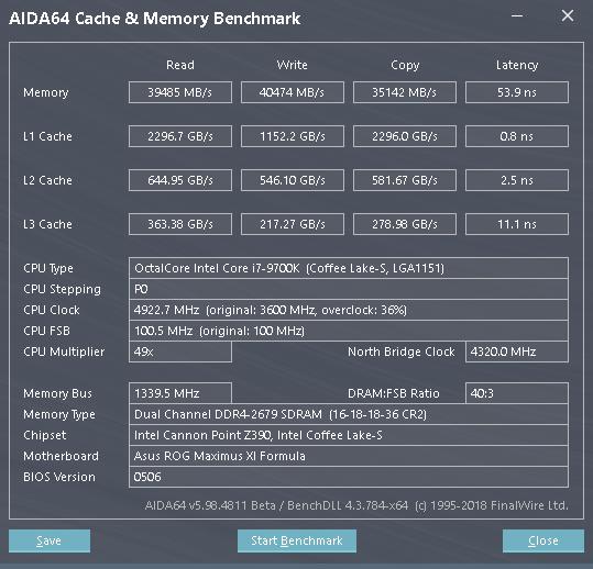 Základní výkon pamětí na 2666 MHz