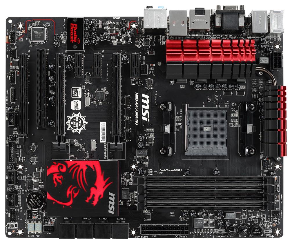MSI A88X-G45 Gaming: luxusní design i výbava