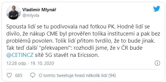CETIN si vybral za dodavatele sítě 5G firmu Ericsson