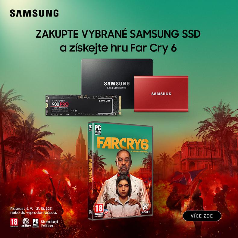 Samsung rozdává Far Cry 6 ke svým rychlým SSD
