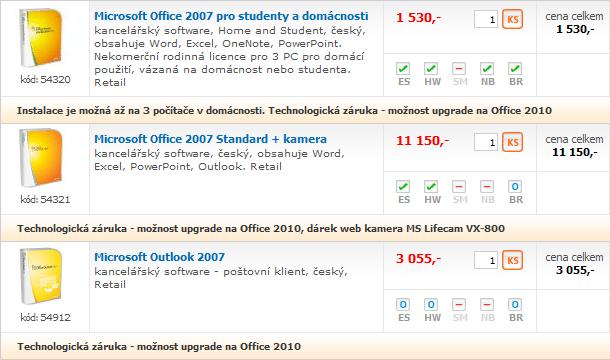 Doporučené sestavy a monitory – červenec 2010