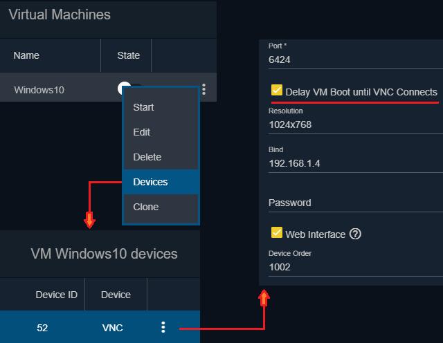 Má se počítač spustit po startu FreeNAS nebo čekat na připojení přes VNC?