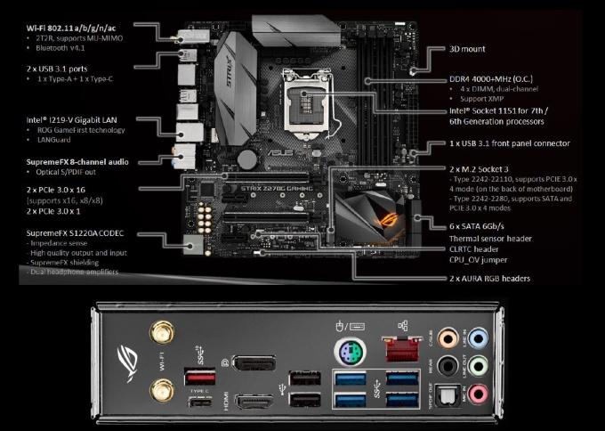 Asus Strix Z270G Gaming: i7-7700K na 5300 MHz