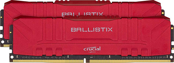 Paměťové moduly Crucial Ballistix Red