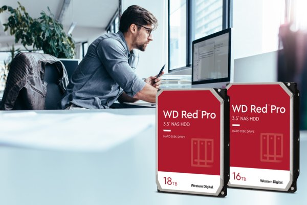 WD představil pevné disky Red Pro s 16 TB a 18 TB
