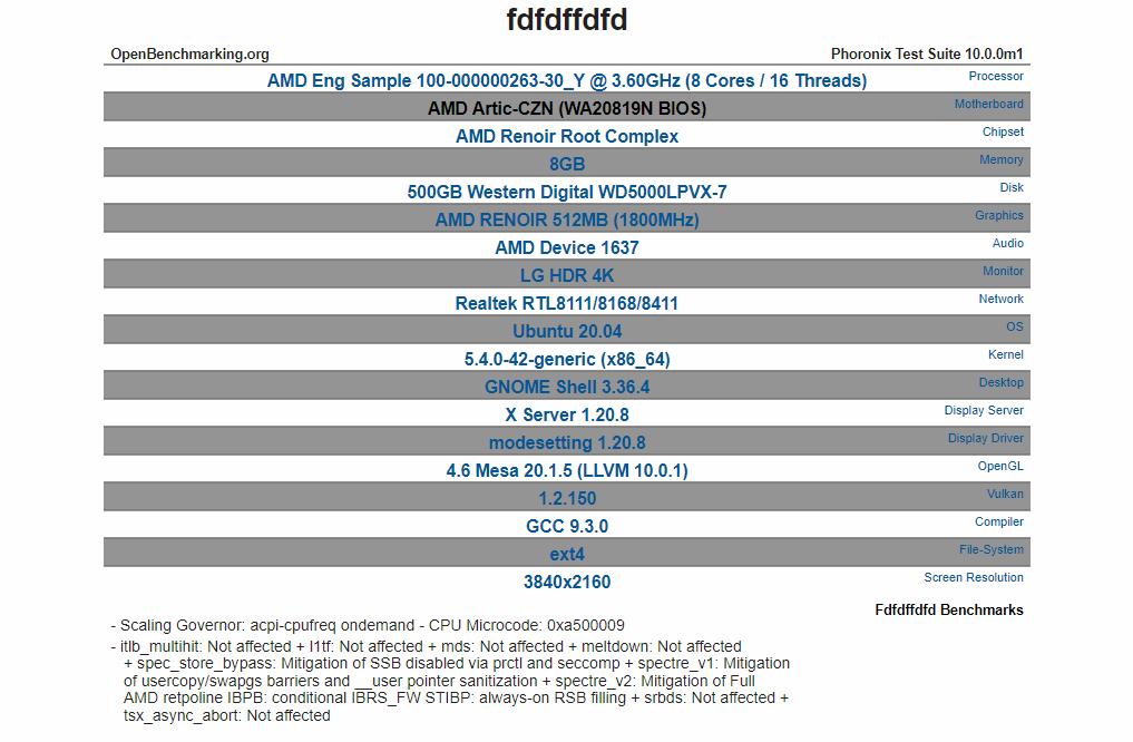 V benchmarku se objevil osmijádrový AMD Cezanne