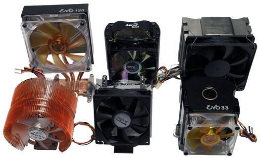 Pokračování megasouboje: Srovnávací test sedmi aktivních chladičů CPU