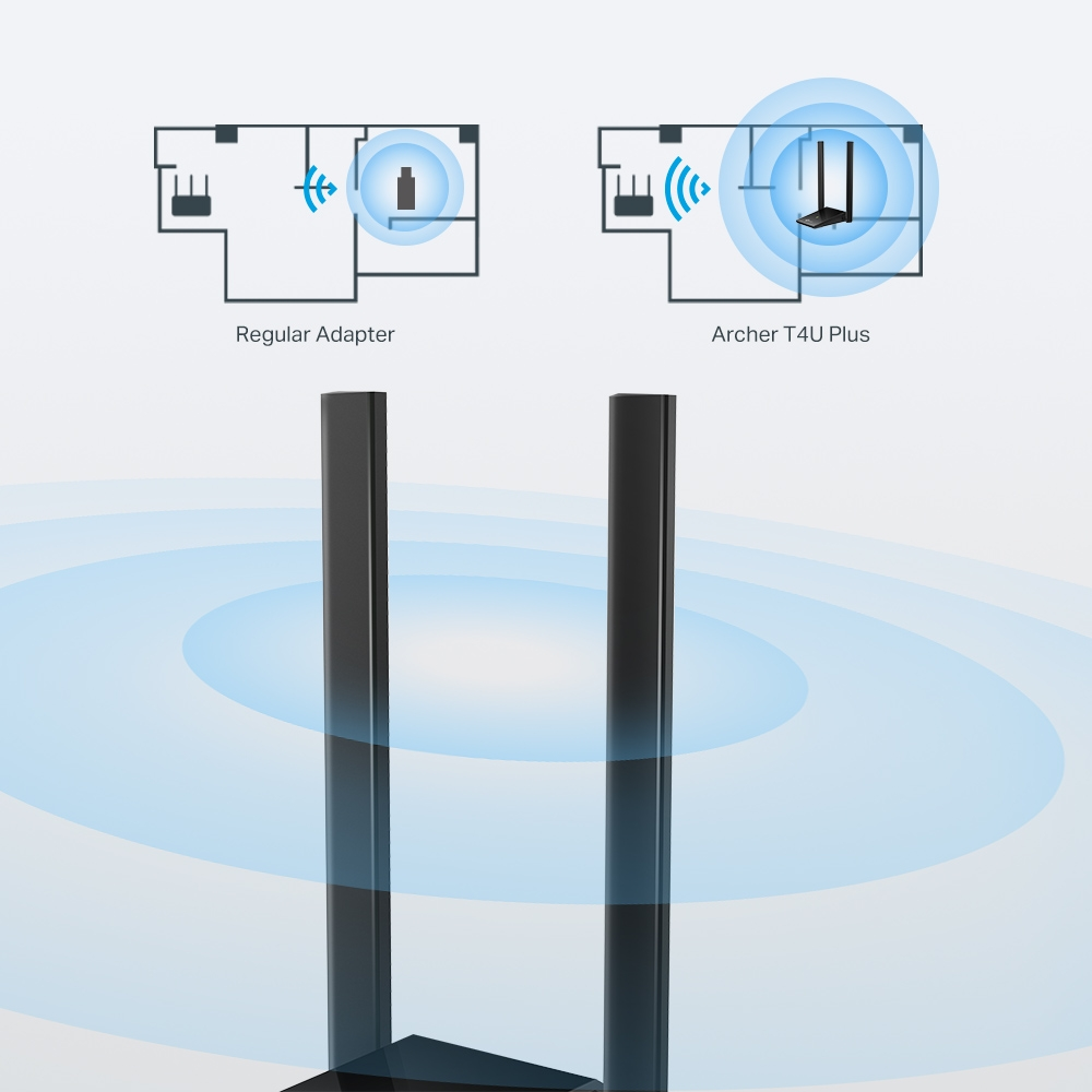 TP-Link Archer T4U Plus: zesílí Wi-Fi u notebooku a stolnímu PC přidá bezdrátovou komunikaci