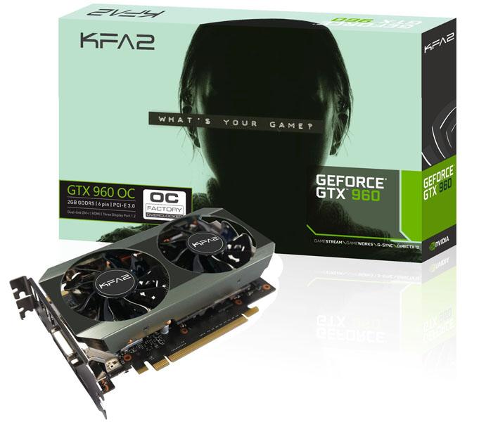 KFA2 odhalilo podobu svých chystaných grafických karet GeForce GTX 960