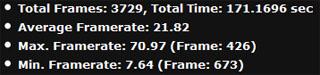 Tomb Raider — nastavení 1920 × 1080 px, 1× AA, nejvyšší detaily — vlevo výkon AMD Radeonu R7 250X na referenčních frekvencích, uprostřed Asus Radeon R7 250X, vpravo po vlastním dodatečném přetaktování