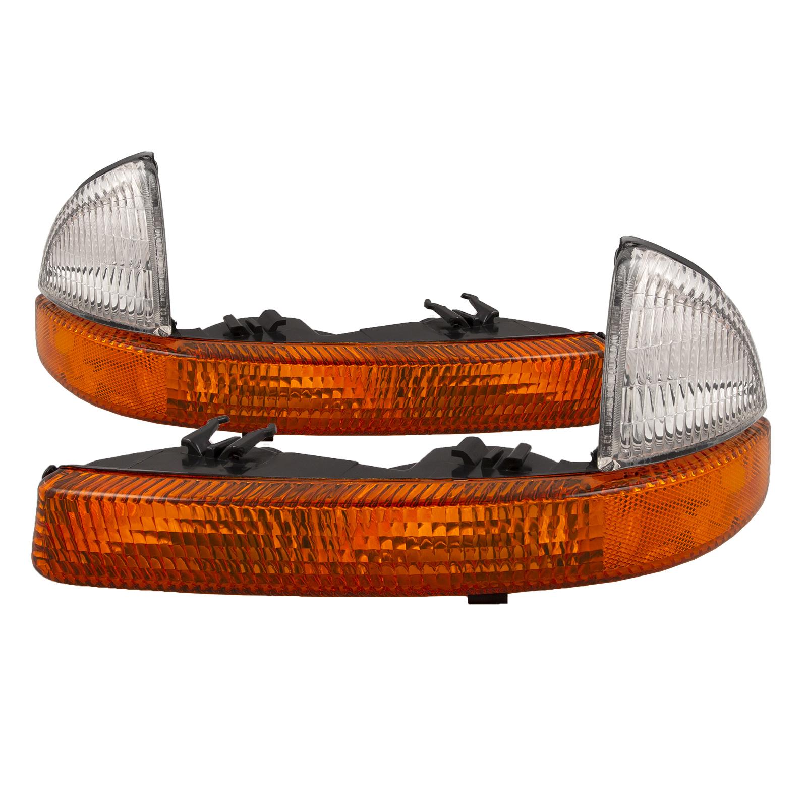 98-03 Dodge Van Driver /& Passenger Turn Signal Corner Parking Lights Pair Set