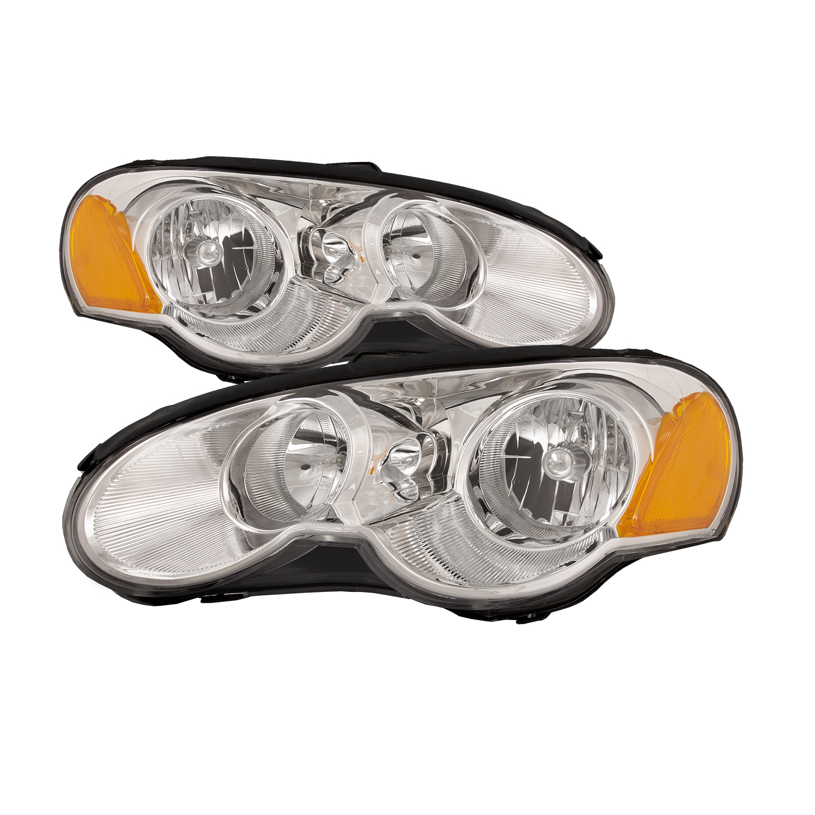 Details About Fits 03 05 Chrysler Sebring Coupe Headlights Headlamps Pair Set Halogen New