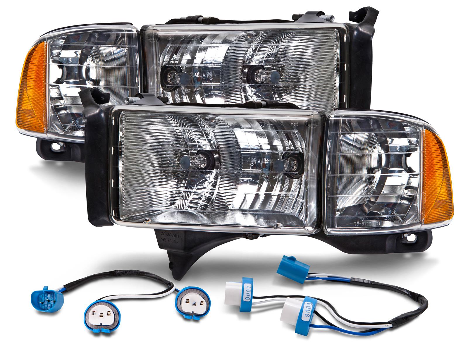 1994 Dodge Ram Headlight Harness Electrical Wiring Diagram 94 02 Sport Pickup Conversion Headlamps 1500 Switch
