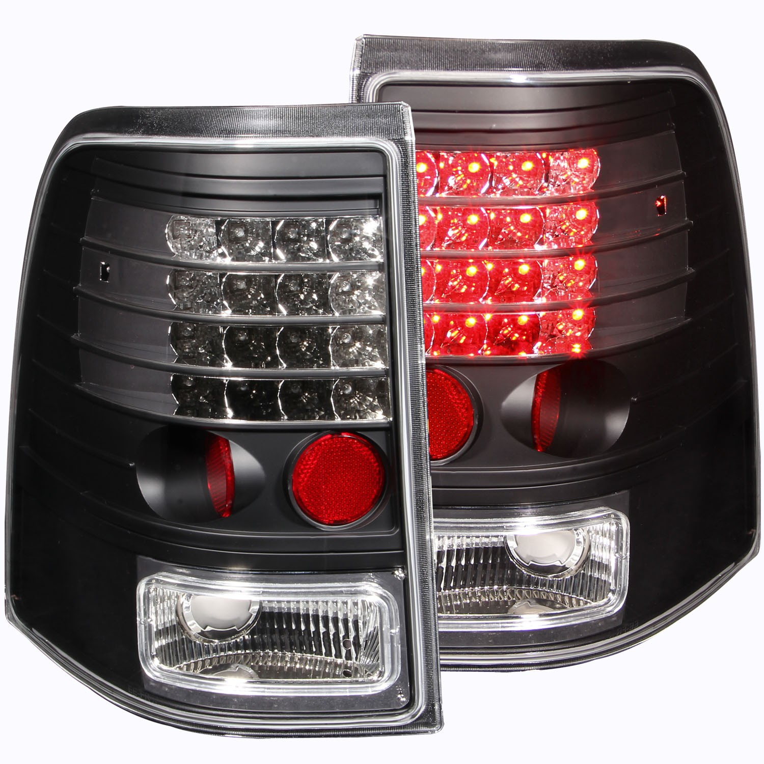 Details About Fits 02 05 Ford Explorer Tail Lights Left Right Pair W Clear Lens Black