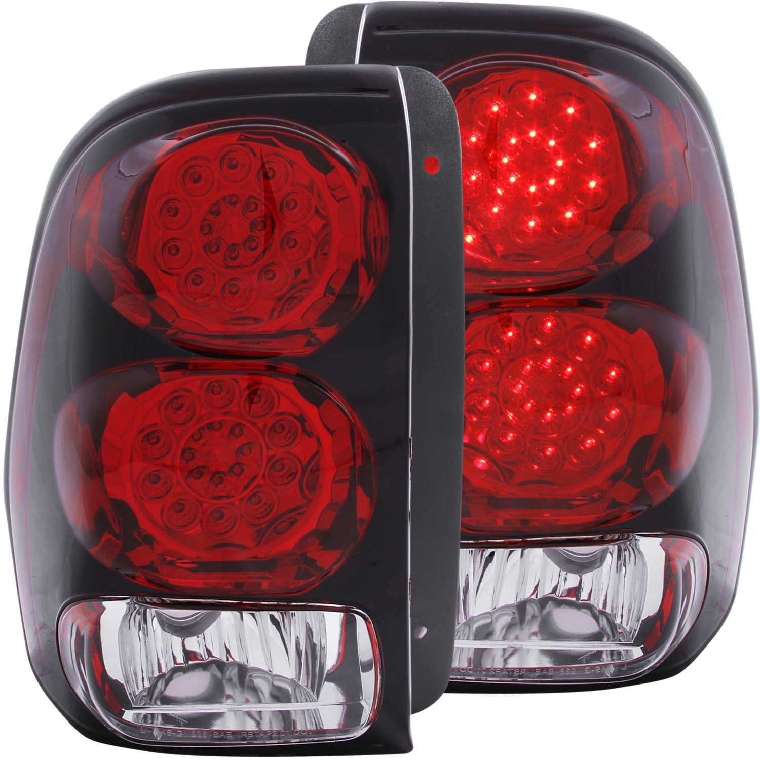 Details About Fits 02 09 Chevrolet Trailblazer Tail Lights Left Right Pair W Red Clear Lens