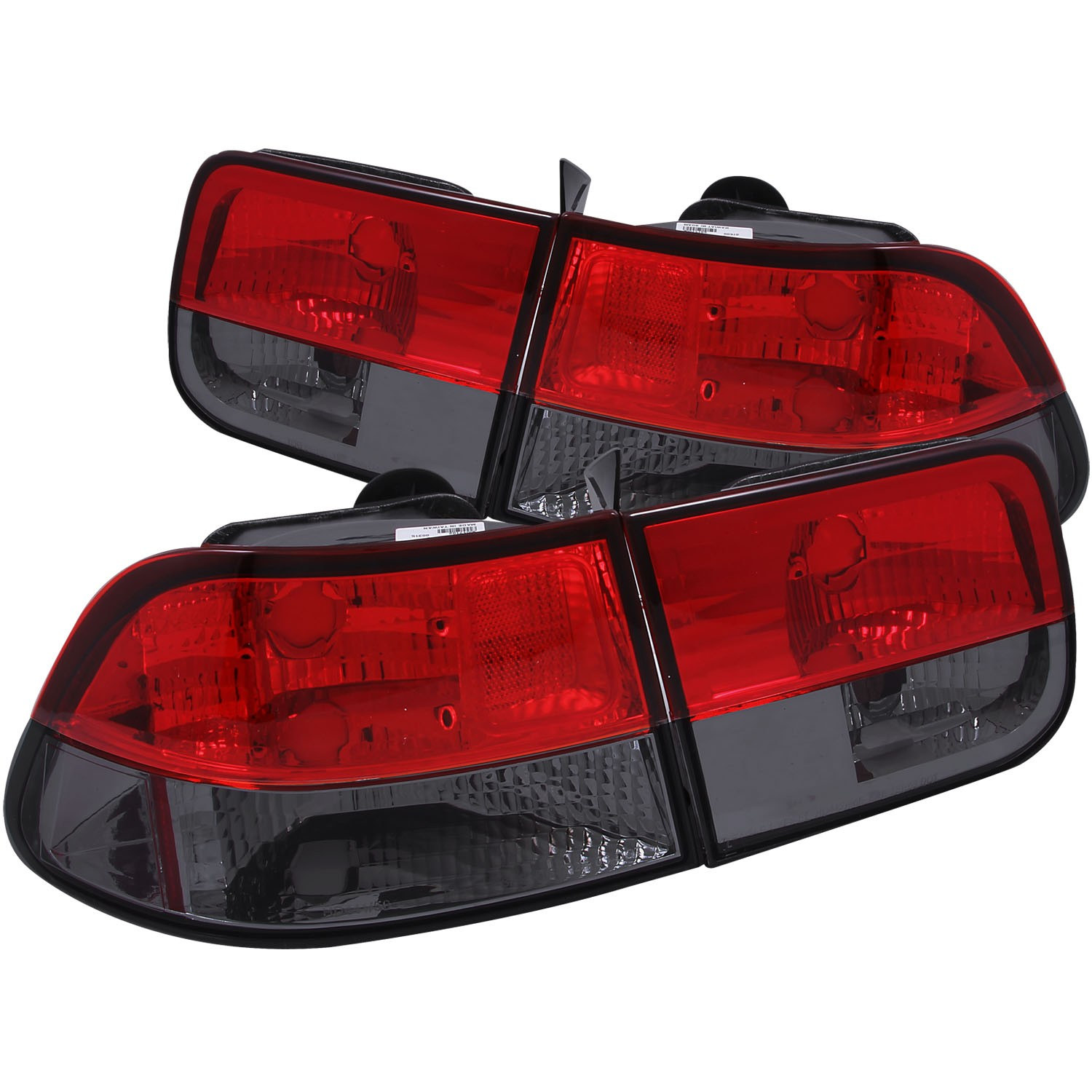 Details About 96 00 Fits Honda Civic Tail Lights Left Right Pair W Red Smoke Lens