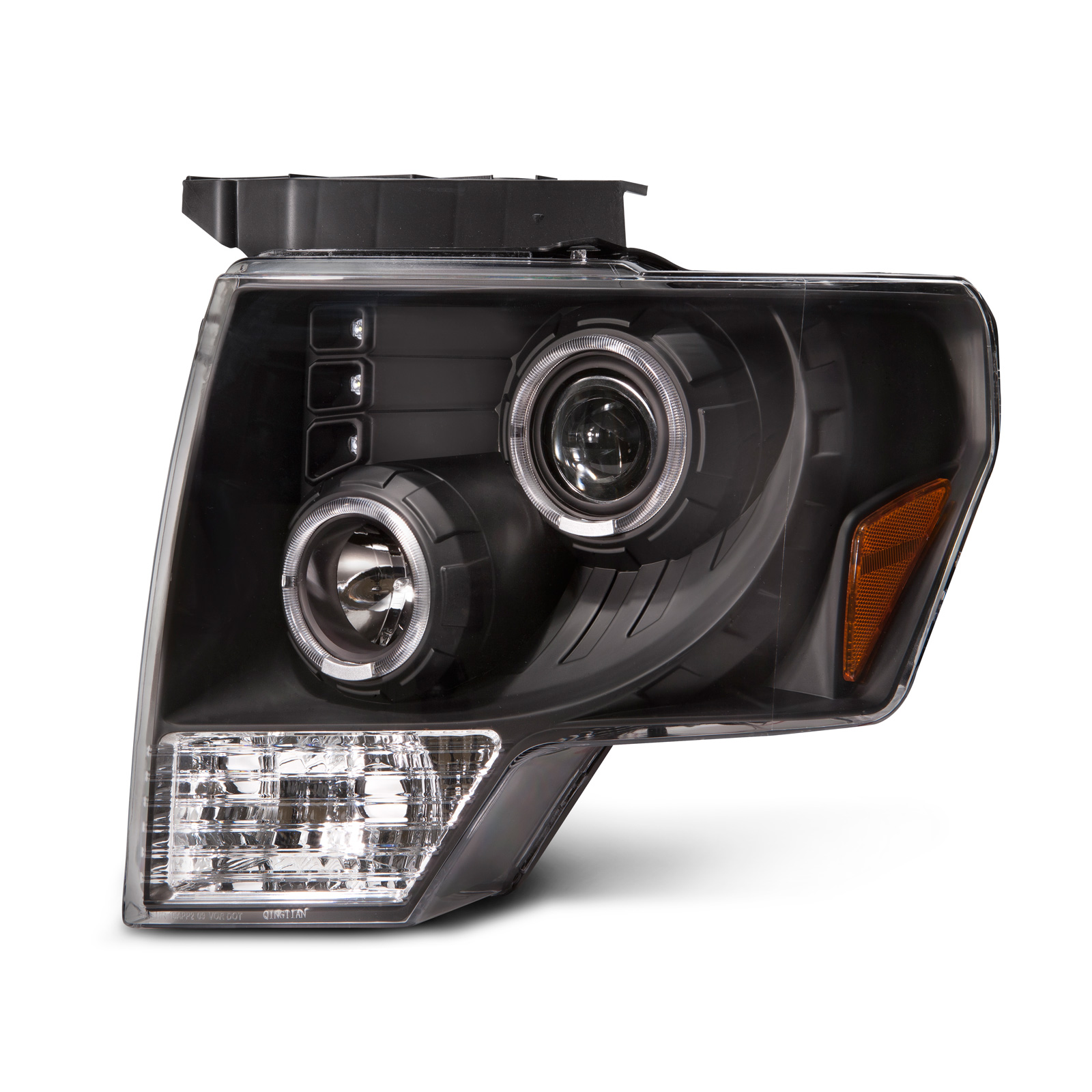 This Is A Set Of Black Halo Projector Headlights For The