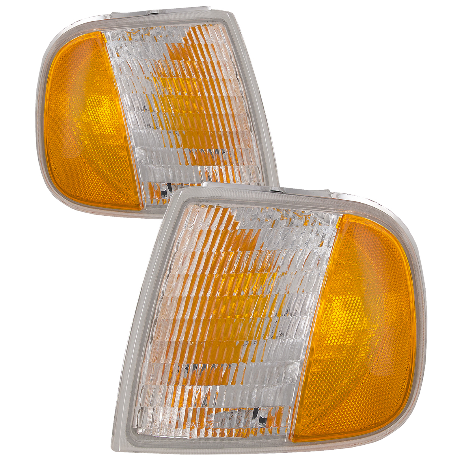HEADLIGHTSDEPOT Front Park Corner Signal Lights Set Left Right Compatible with 2008-2012 Jeep Liberty
