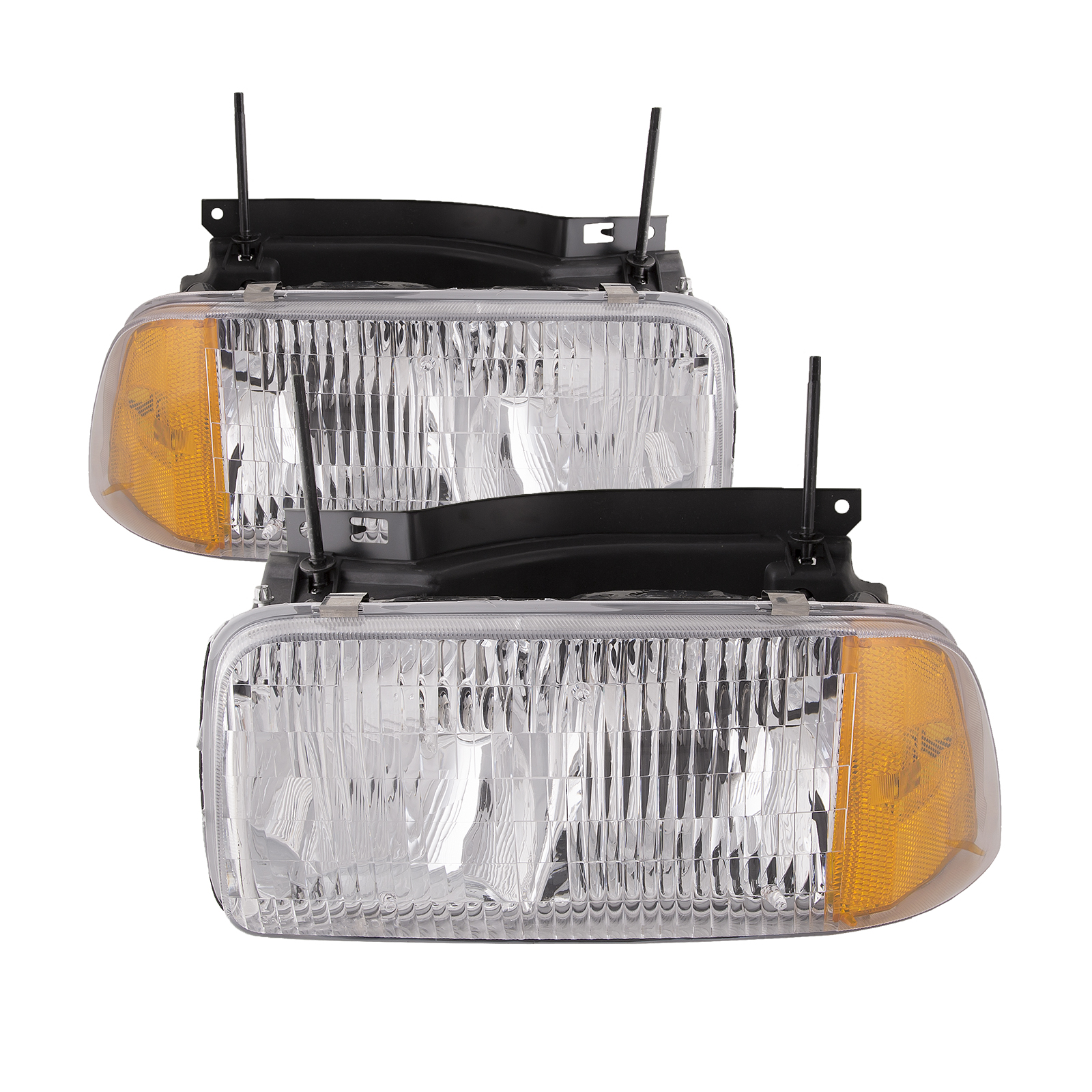 Details About Headlights Set Left Right Pair Fits 94 97 GMC Sonoma 96 Oldsmobile Bravada