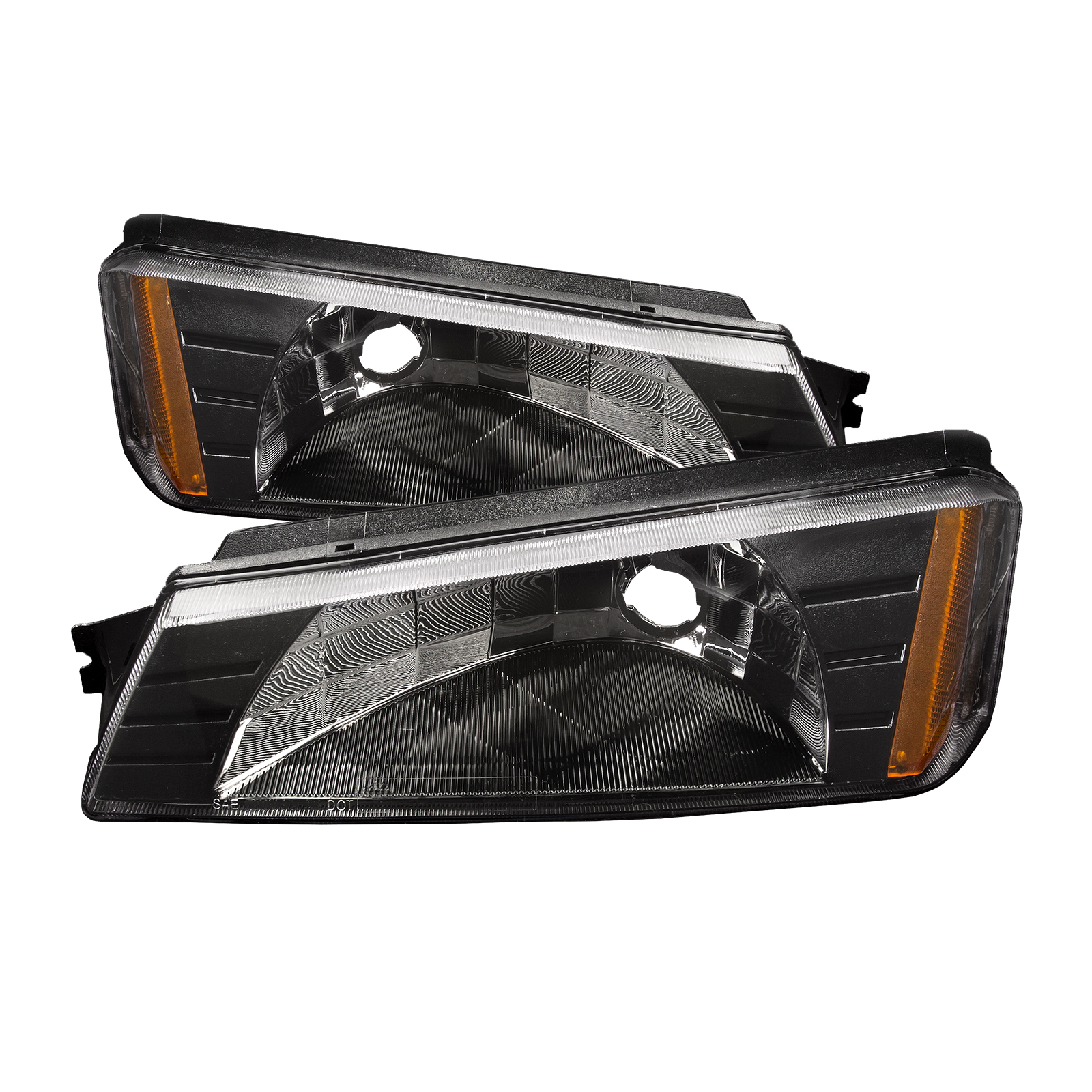 2002 2006 chevy avalanche park signal light set pair w body cladding ebay. Black Bedroom Furniture Sets. Home Design Ideas