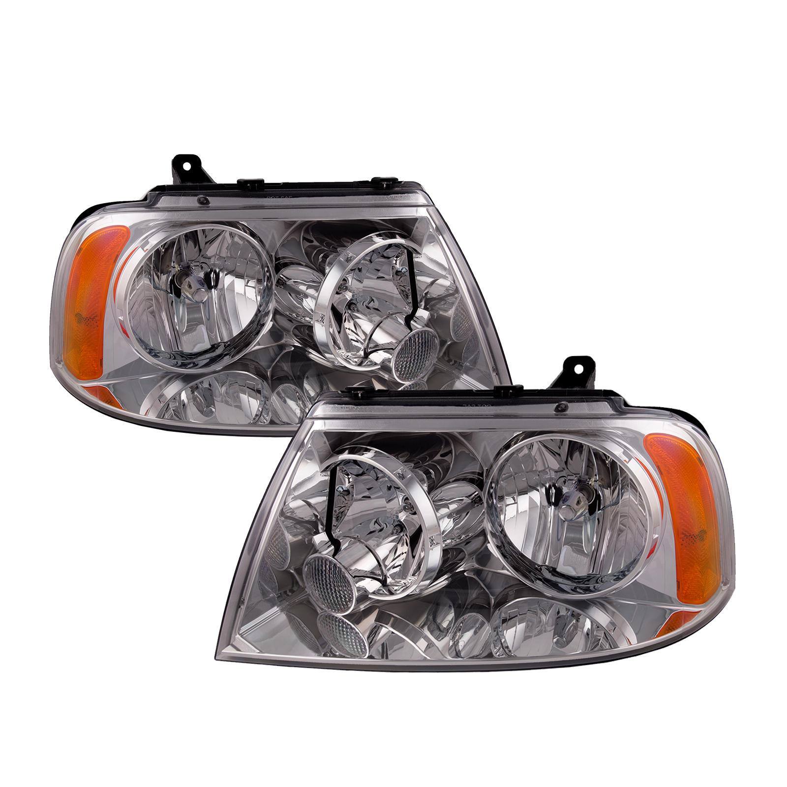 Gulf Stream Crescendo 2004-2006 RV Motorhome Pair Left /& Right Replacement Front Headlights with Bulbs
