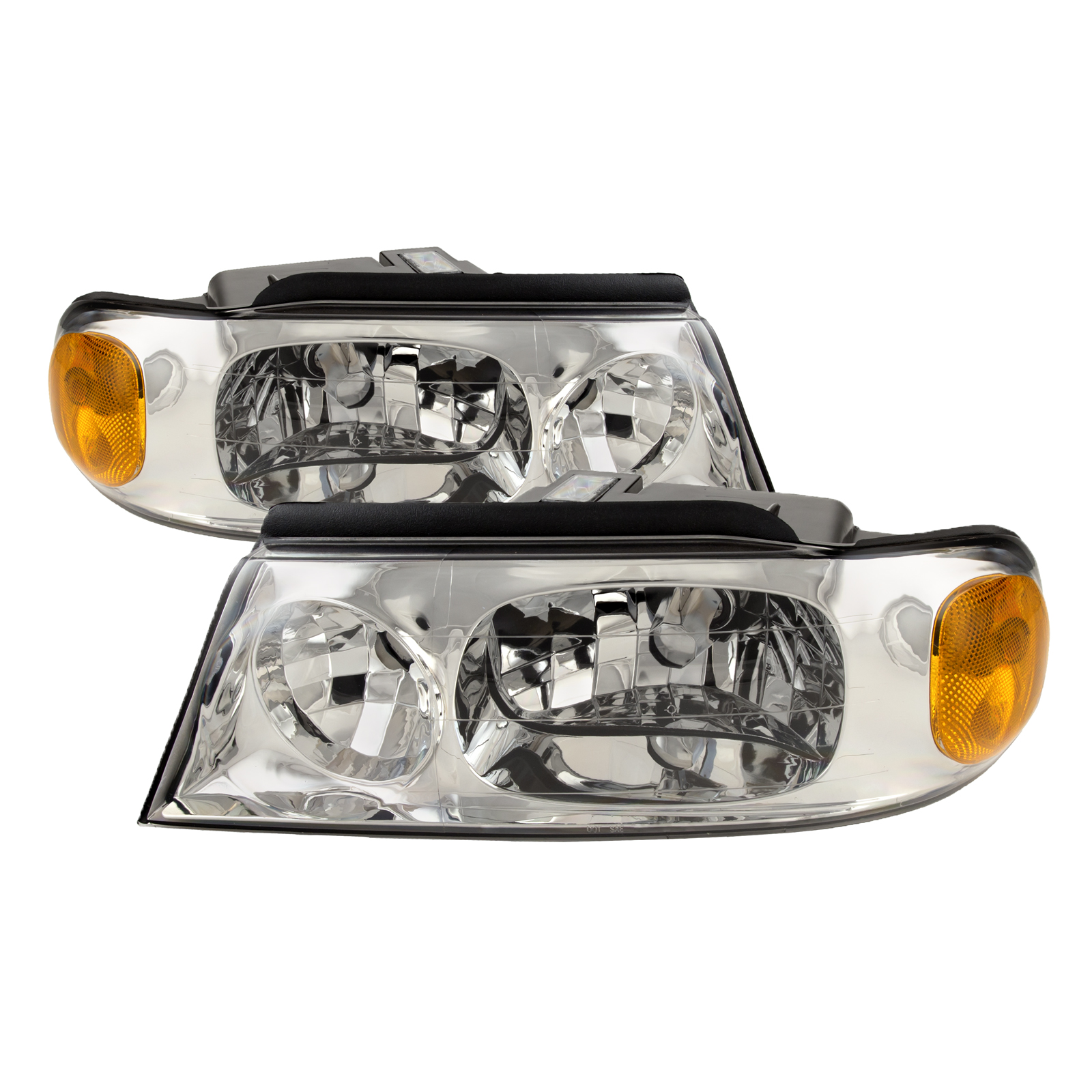 Left /& Right Damon Ultrasport 2002-2004 RV Motorhome Pair Replacement Front Headlights with Bulbs