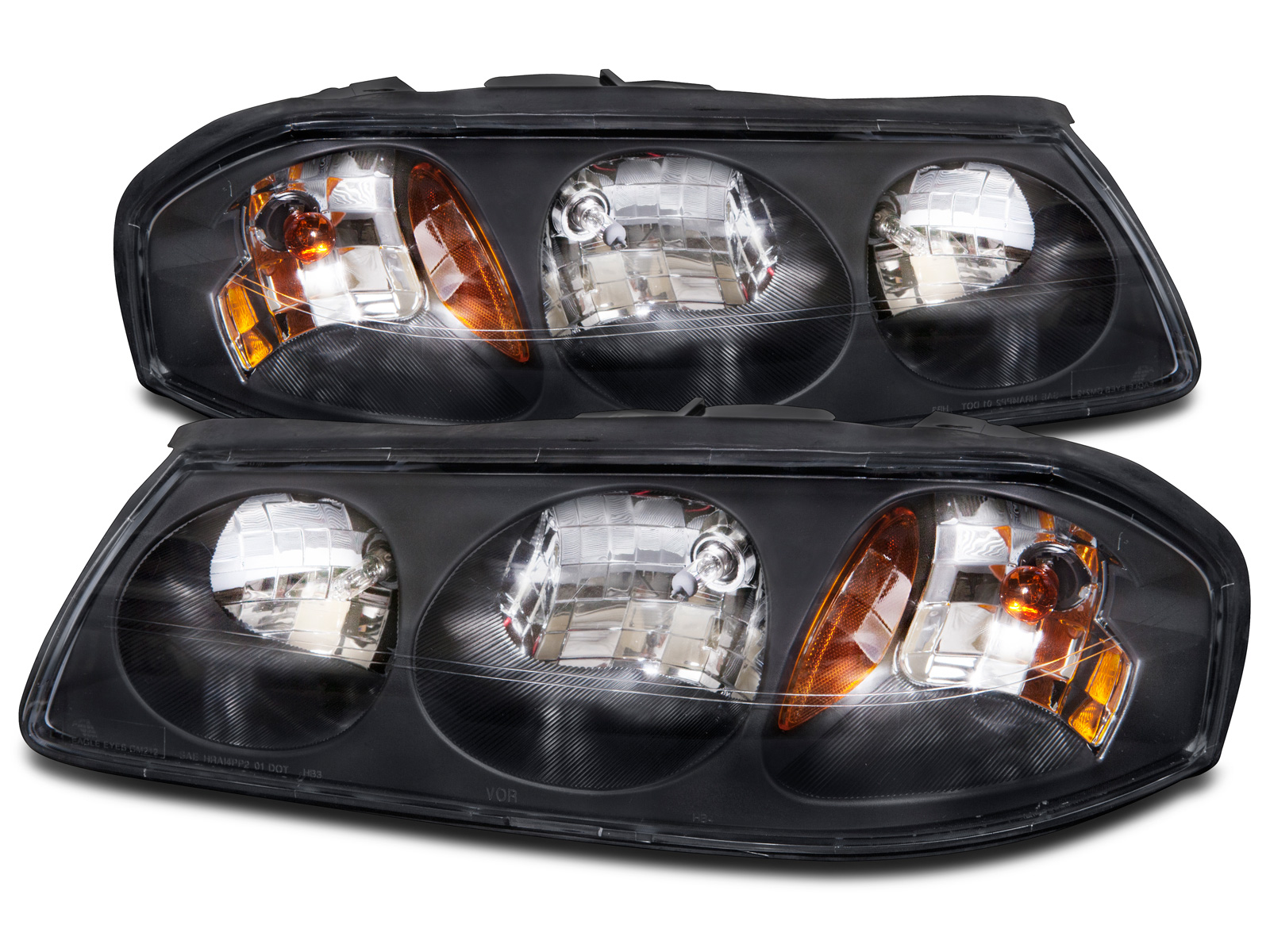 Damon Astoria 2005-2006 RV Motorhome Pair Replacement Front Headlights with Bulbs Left /& Right
