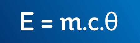 A formula: E = m.c.θ