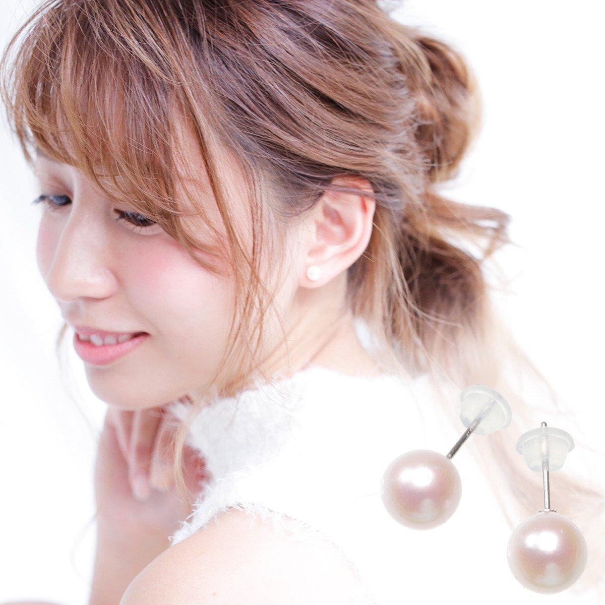 アコヤ真珠ピアス 約7.0mmの写真