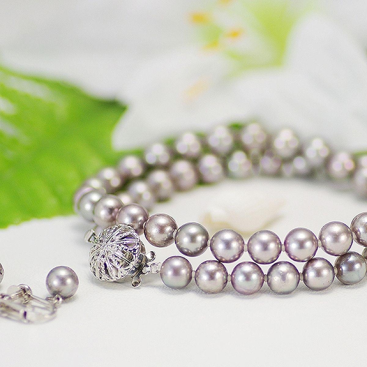 アコヤ真珠フォーマルセット 約7.0-7.5mmの写真