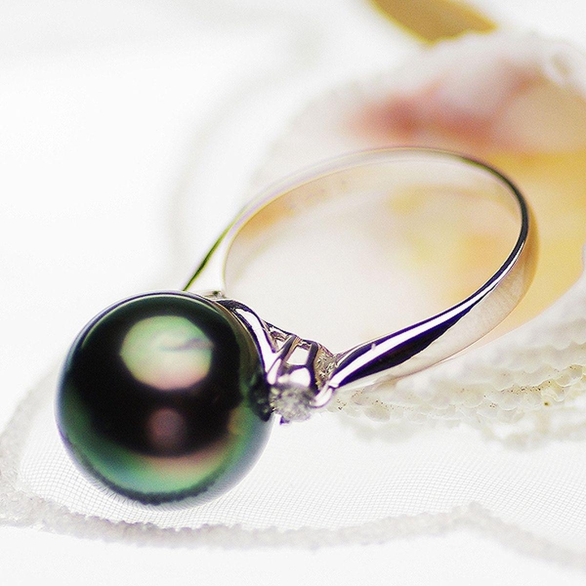 タヒチ黒蝶真珠リング 約11.5mmの写真