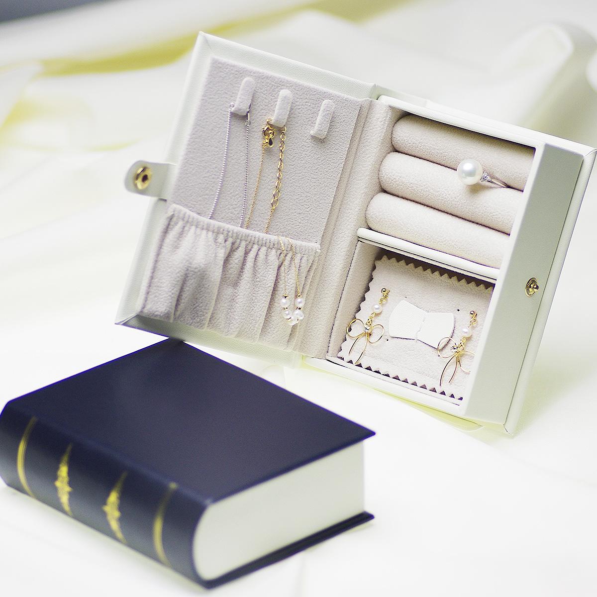 ブック型ジュエリーボックス  ジュエリーケース 大容量  アクセサリーボックスの写真