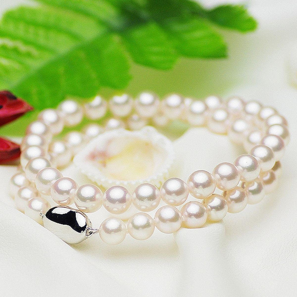 アコヤ 花珠 真珠 フォーマル セット 約7.5-8.0mmの写真