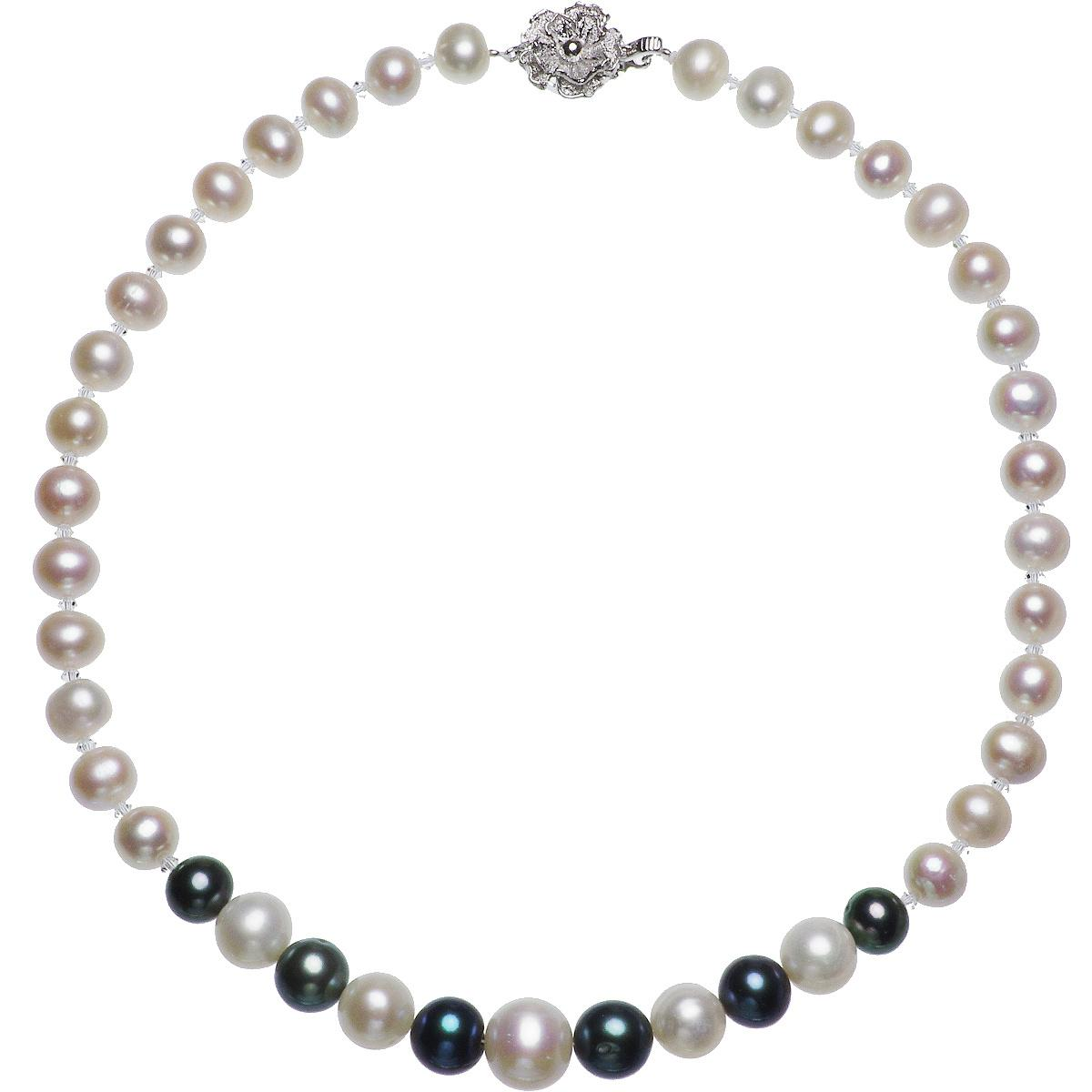 淡水真珠 グラデーション デザイン ネックレス 8.0-11.0mmの写真