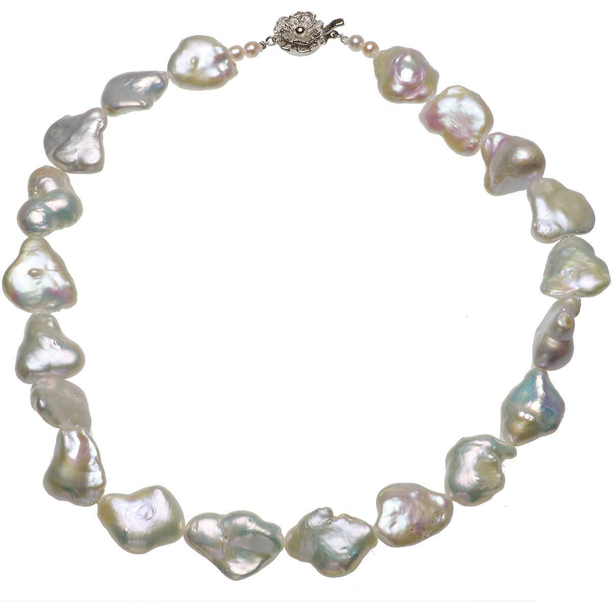 淡水真珠 バロック ネックレス 15.0-19.0mmの写真