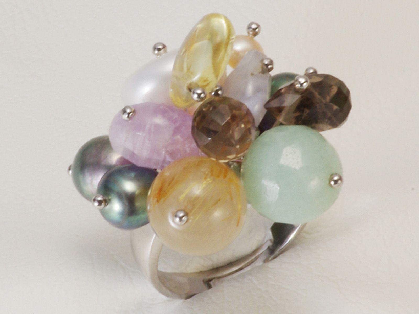 淡水真珠 パール リング 約4.0-10.5mm シンチュウ 合金の写真