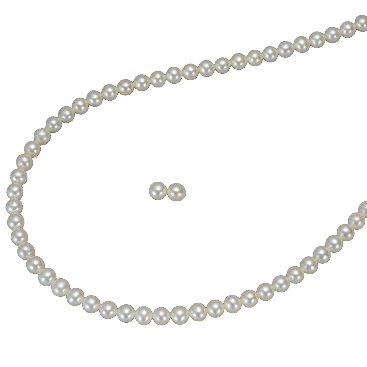 高級 淡水真珠 フォーマル セット 約5.0-5.5mmの写真