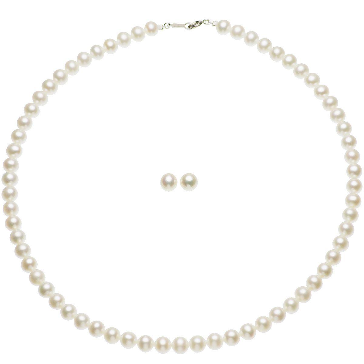 高級 淡水真珠 フォーマル セット 約6.5-7.0mmの写真
