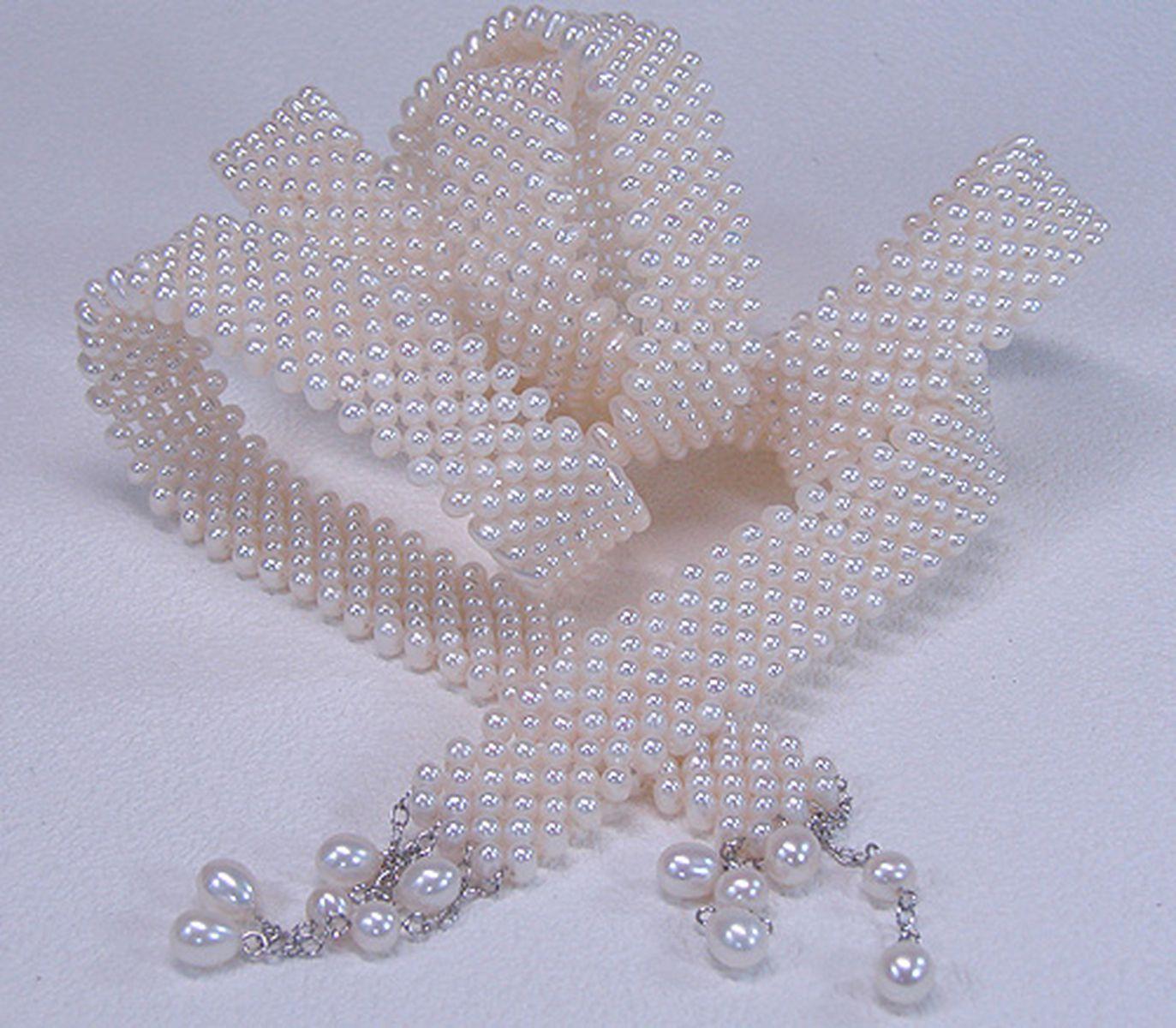 淡水真珠ロングネックレス 約4.0-4.5mmの写真