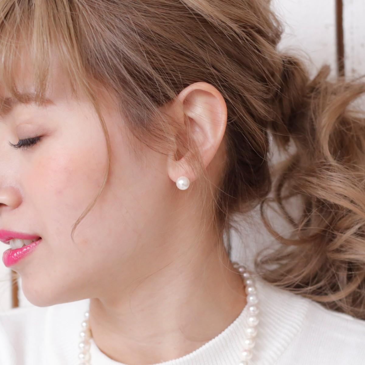 アコヤ真珠ピアス 約8.5mmの写真