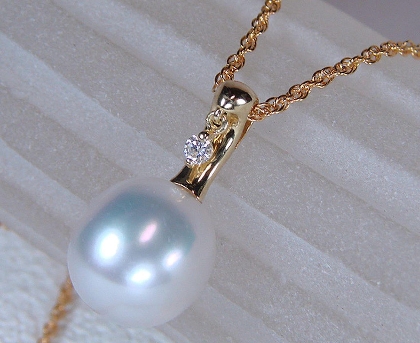 南洋白蝶真珠ペンダント 約11.5mmUPの写真