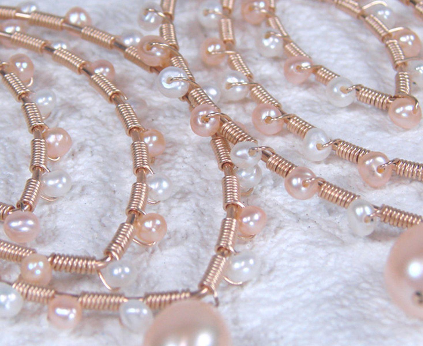 淡水真珠ピアス 約2.5mm・約6.5mm×約8.0mmの写真