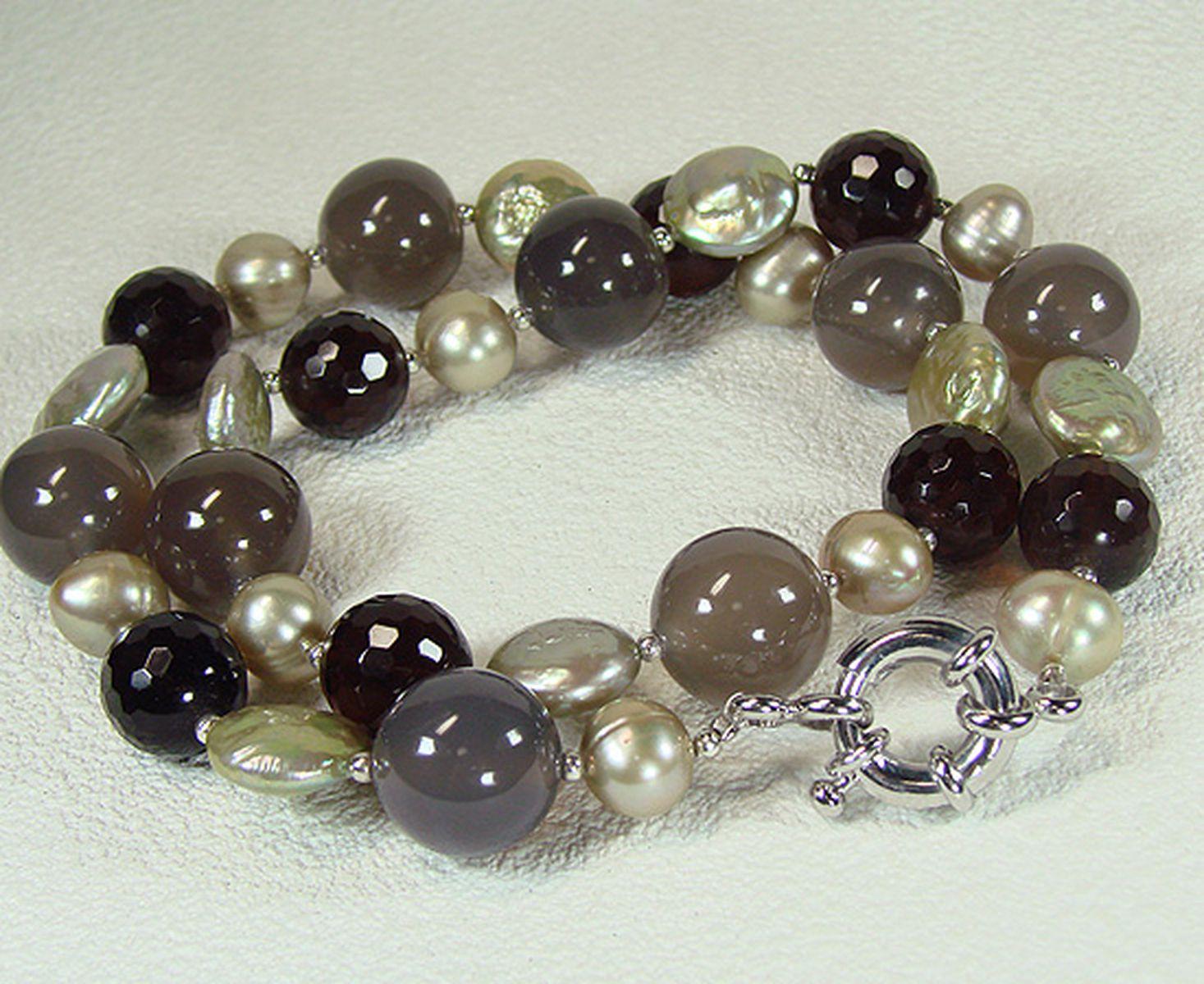 淡水真珠オリジナルデザインネックレス 約9.0mmの写真