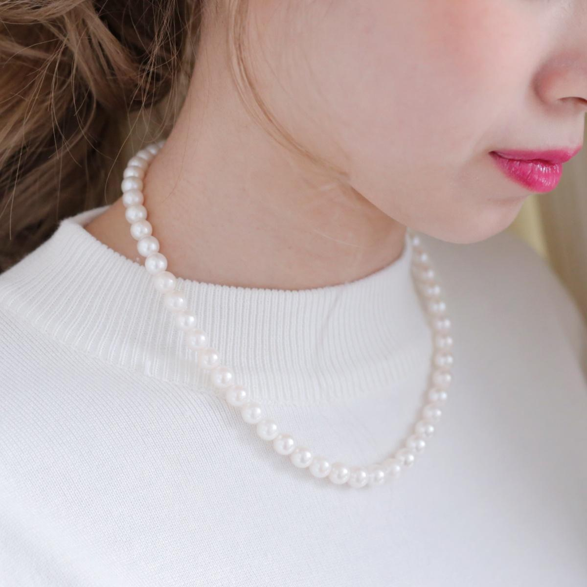 アコヤ真珠フォーマルネックレス 約7.5-8.0の写真