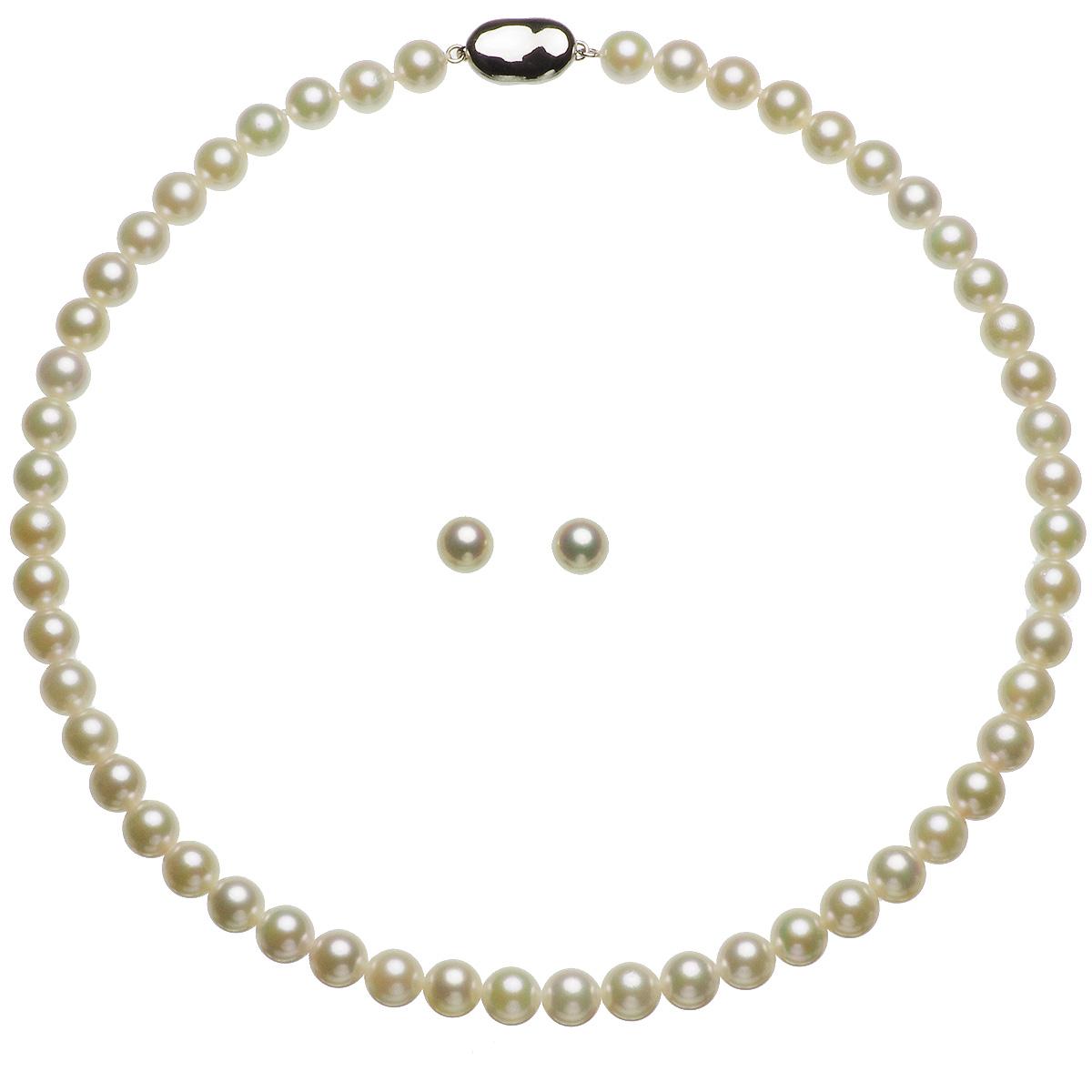 アコヤ 厚巻き 高品質 真珠 パール フォーマル セット 約7.5-8.0mmの写真