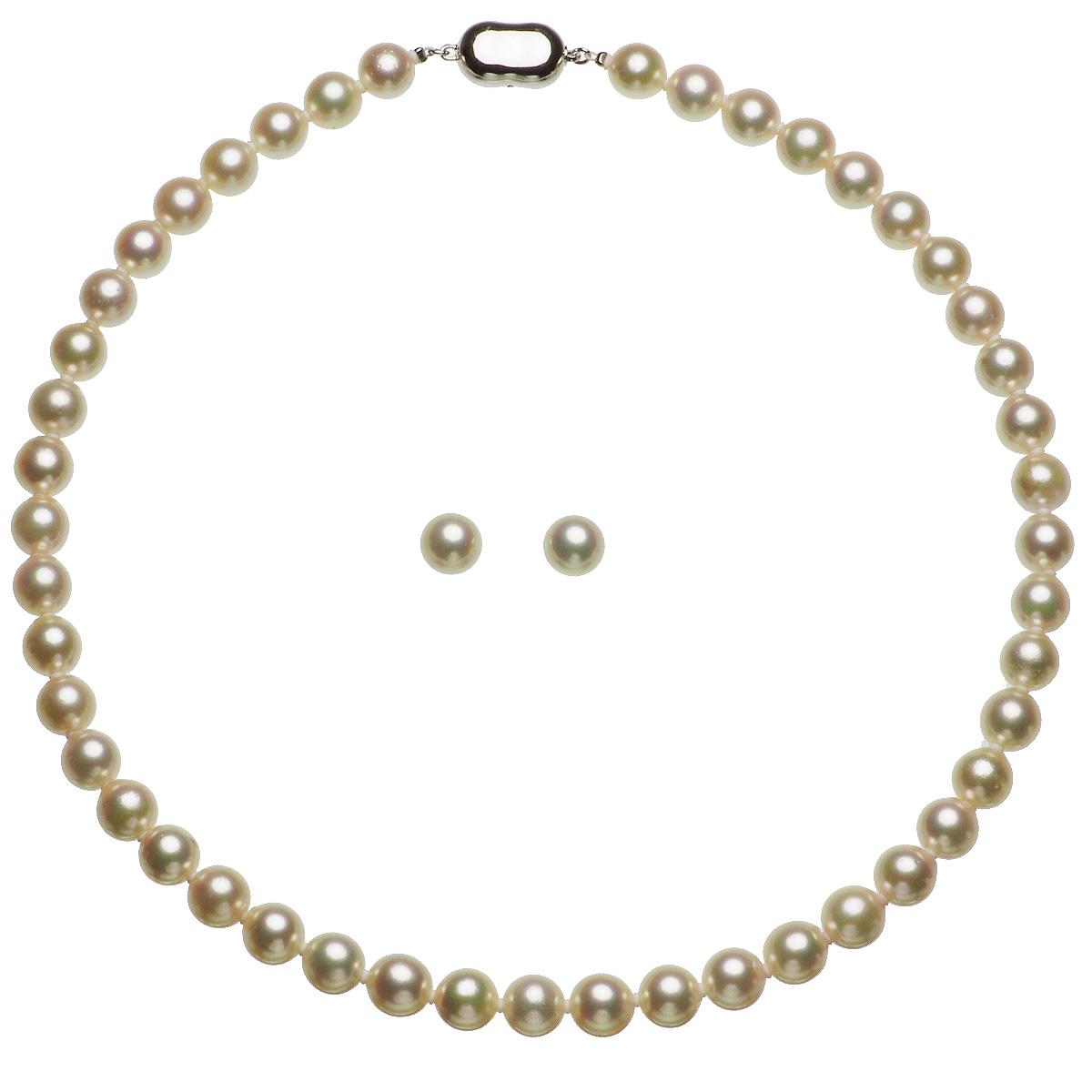 アコヤ 厚巻き 高品質 真珠 パール フォーマル セット 約8.0-8.5mmの写真