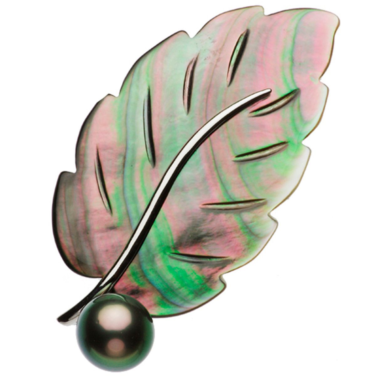 タヒチ黒蝶真珠ブローチ 約11.0mmの写真